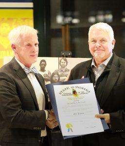 Longtime Special Olympics Indiana CEO Michael Furnish Designated 'Sagamore of the Wabash'